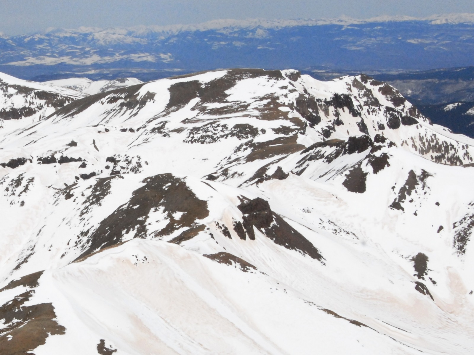 Silver Mountain from the summit of Uncompahgre Peak
