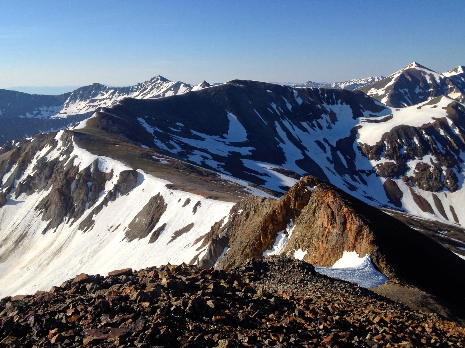 """Cooper Creek Peak"" as seen from ""Every Mountain"""