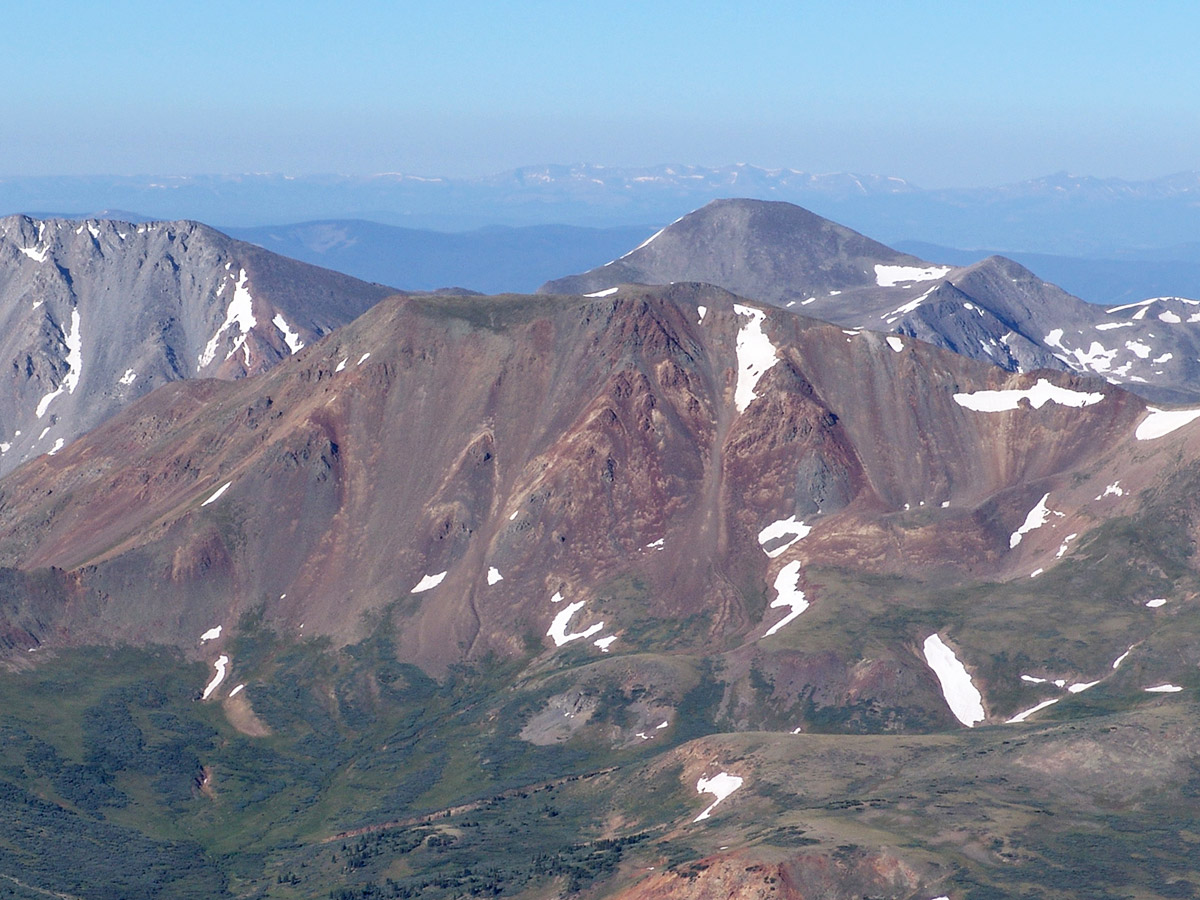 Carbonate Mtn seen from Mt. Antero.