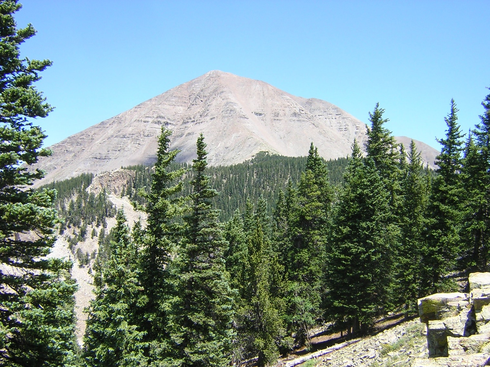 West Spanish Peak from the Cordova Pass trail