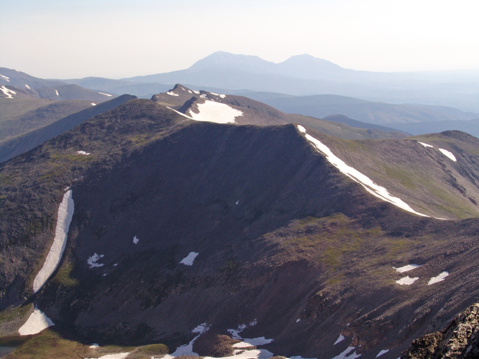 Unnamed 13,565 (left of center) from 14er Culebra Peak