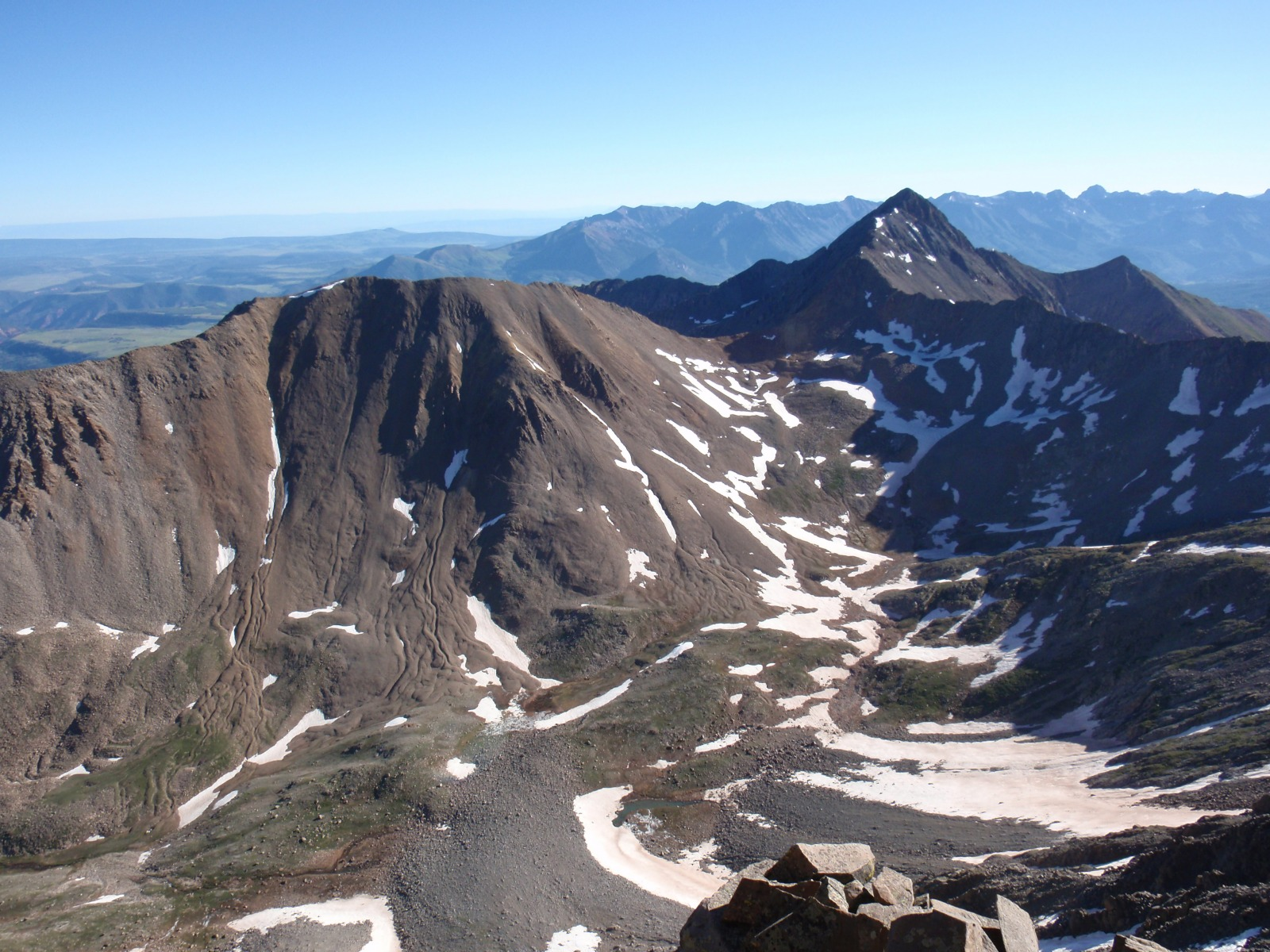 Unnamed 13,540 from the summit of El Diente Peak. Wilson Peak is on the right