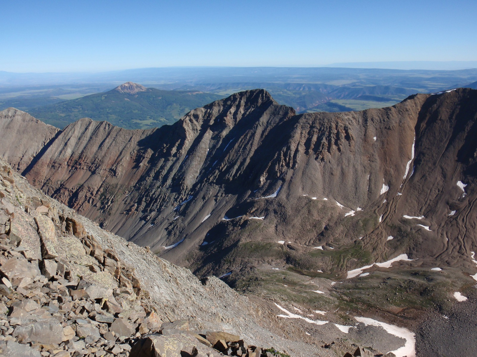Fowler Peak from the summit of 14er El Diente Peak