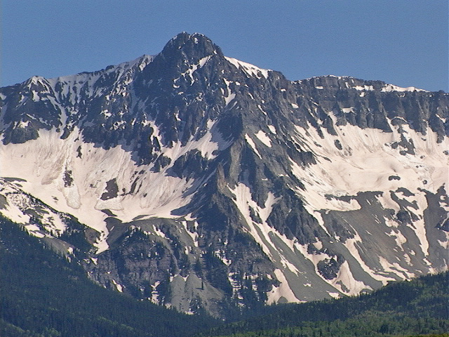 Mears Peak from Dallas Divide.