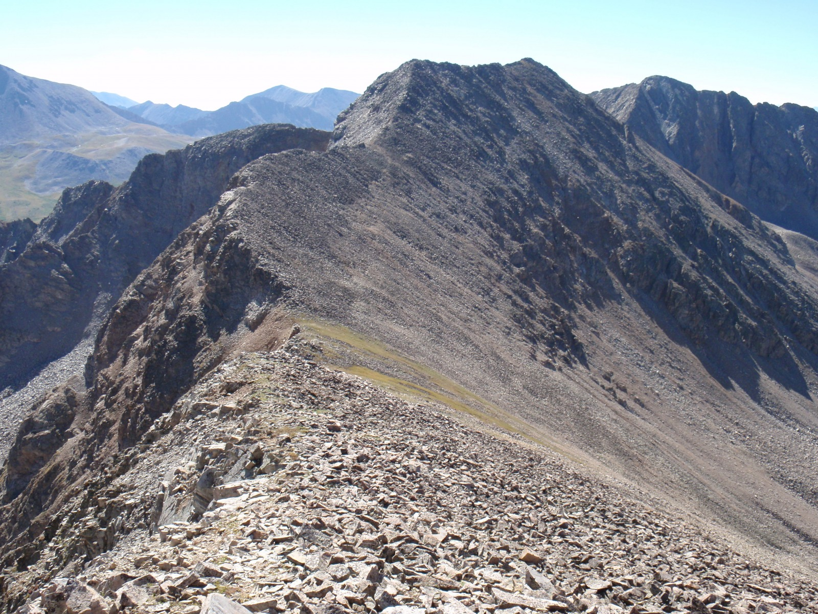 Unnamed 13,472 seen from the south ridge of 14er Huron Peak