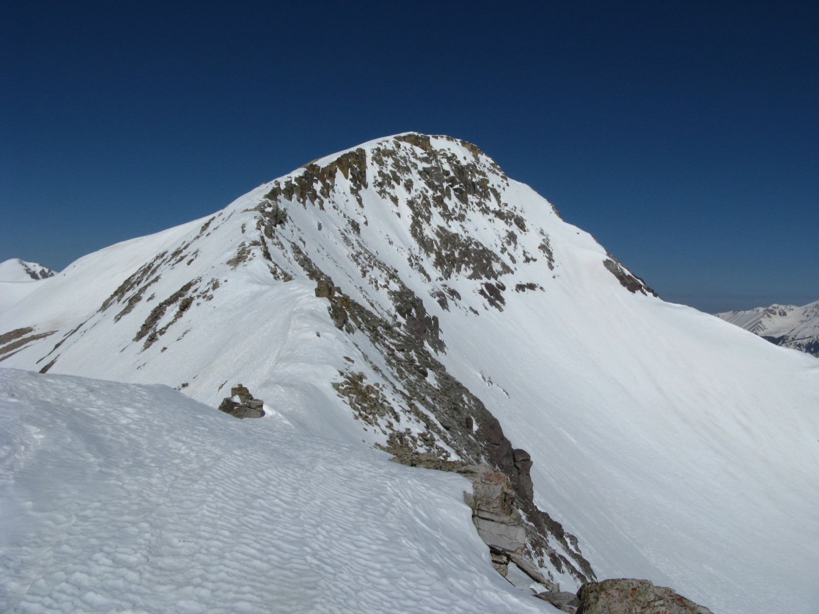 Trico Peak from its own east ridge