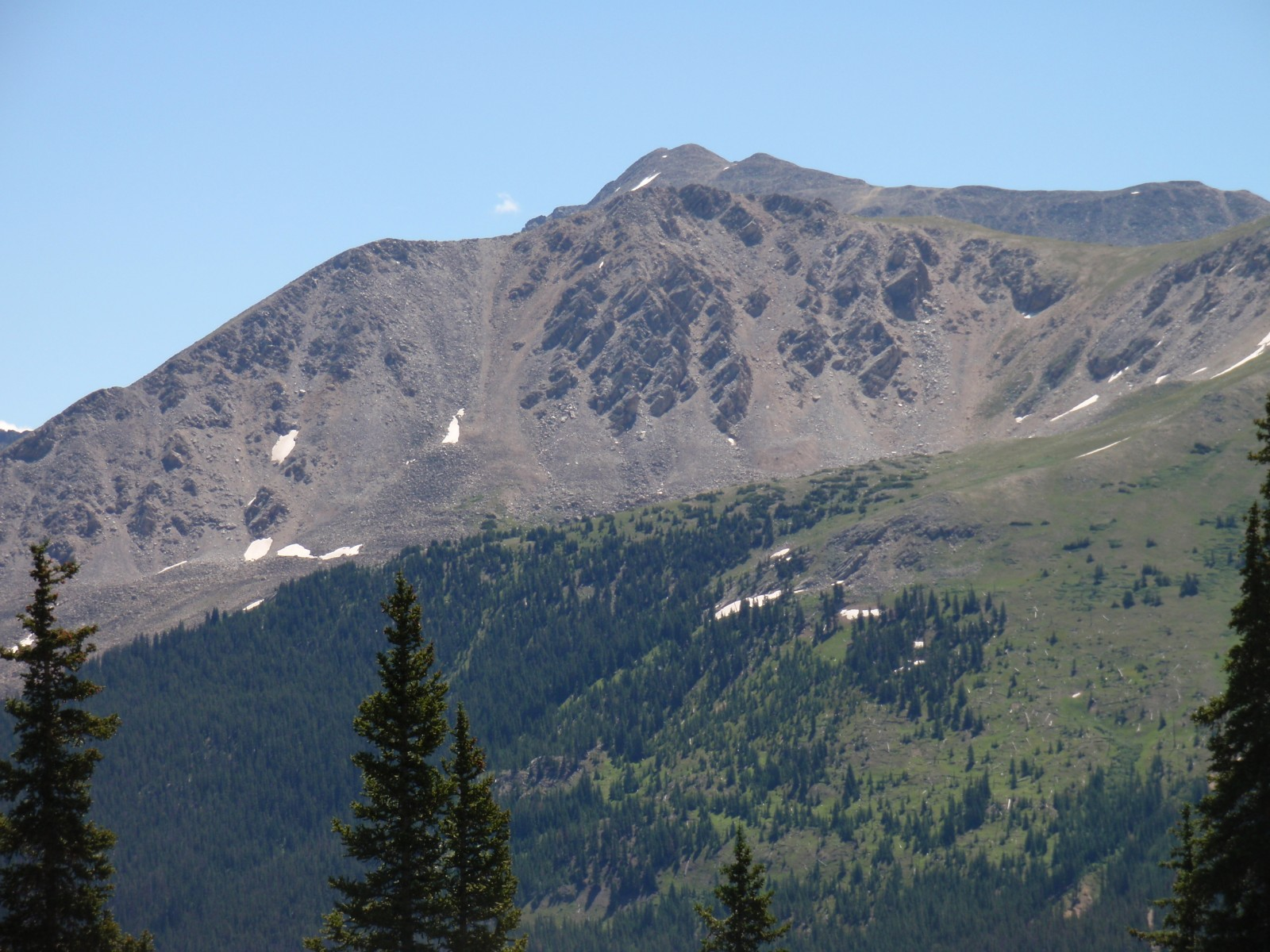 Unnamed 13,300 from the west, with 14er La Plata Peak behind