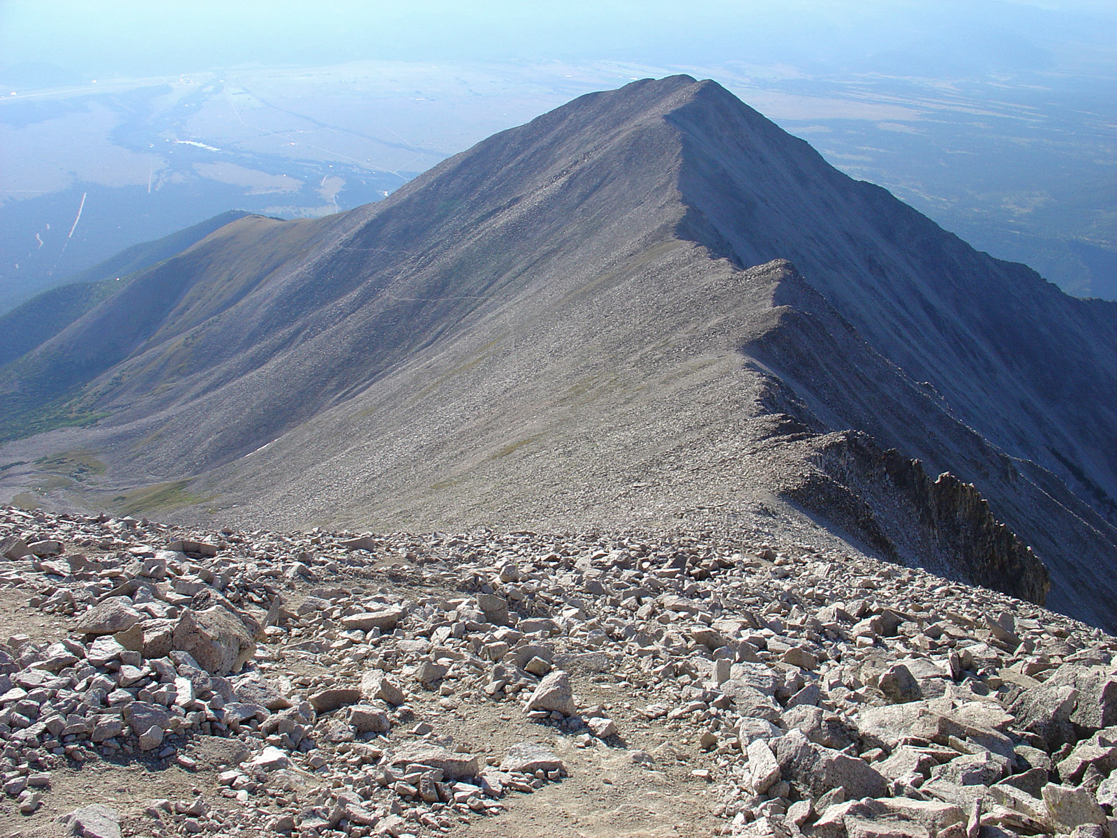 """Tigger Peak"" seen from the summit of Mt. Princeton."