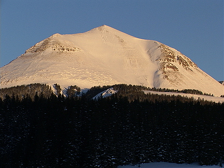Sheep Mountain from the west.