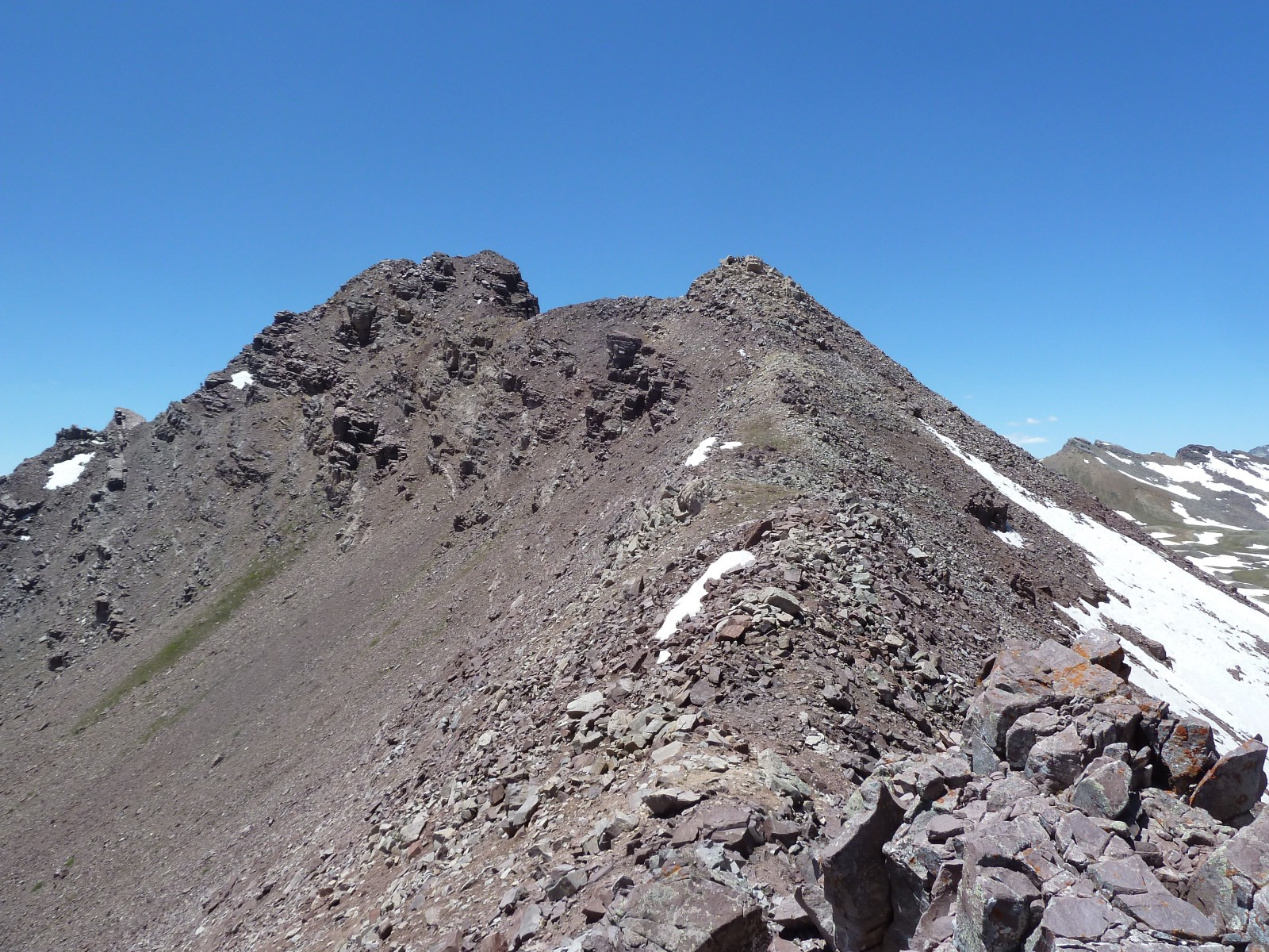 Approaching from the East Ridge