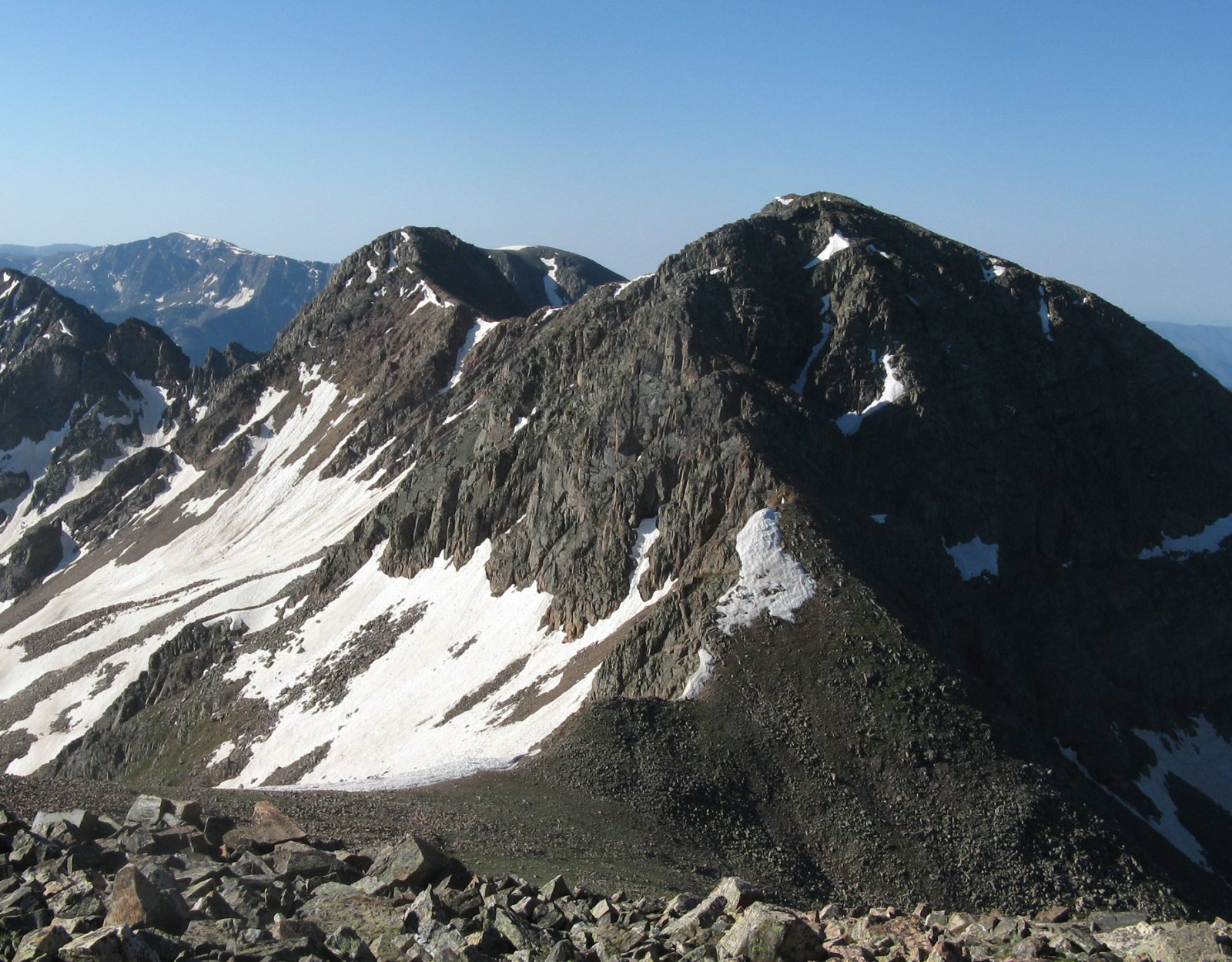 Twilight Peak (right) from North Twilight summit
