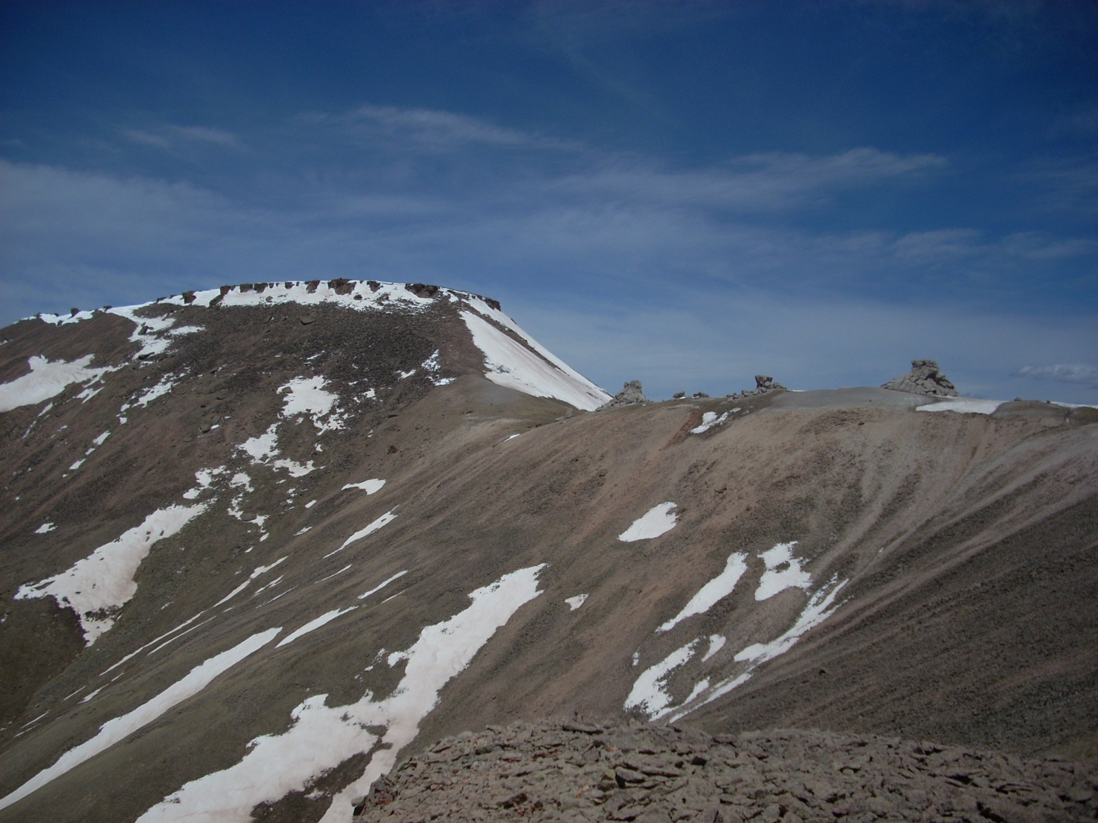 13,091 as viewed from its saddle with Crystal Peak