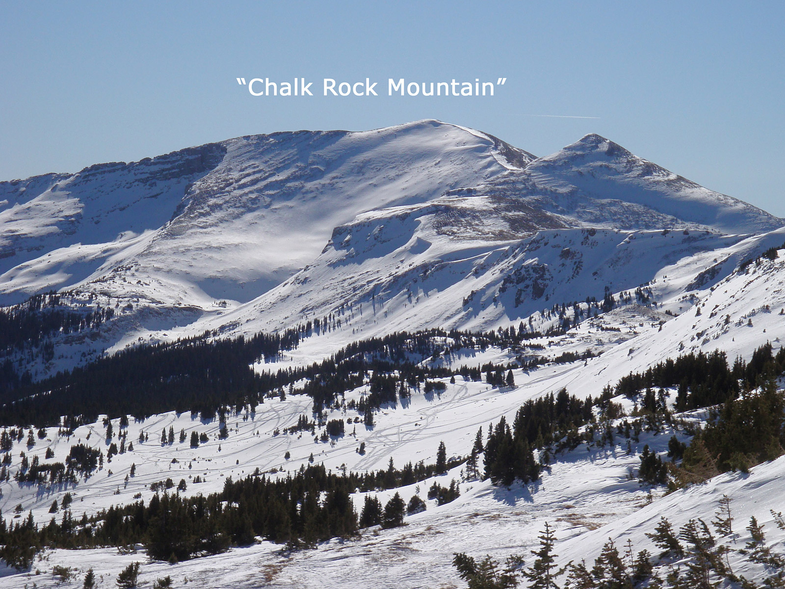 """Chalk Rock"" seen from Cottonwood Pass."