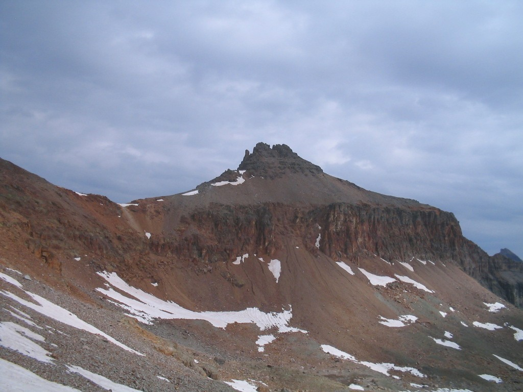 Goden Horn from below Vermilion Peak high in Ice Lakes Basin