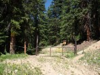 The gate at the upper trailhead. (Added by: BillMiddlebrook on 2011-07-23)