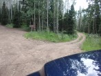 Turning onto the FR 645 road (right) (Added by: BillMiddlebrook on 2014-07-18)