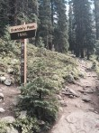 Trail Starting point (climbing starts immediately :–) ) (Added by: MGatMileHigh on 2015-07-27)